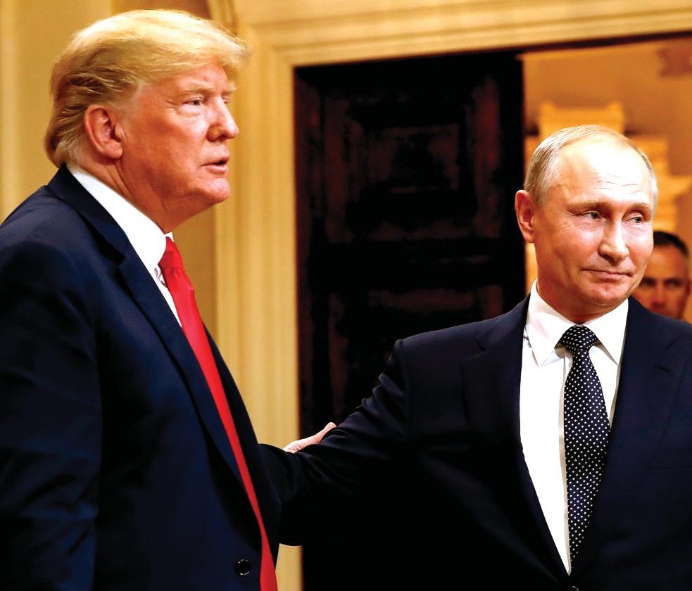 Trump embraces Putin, doubts own intel